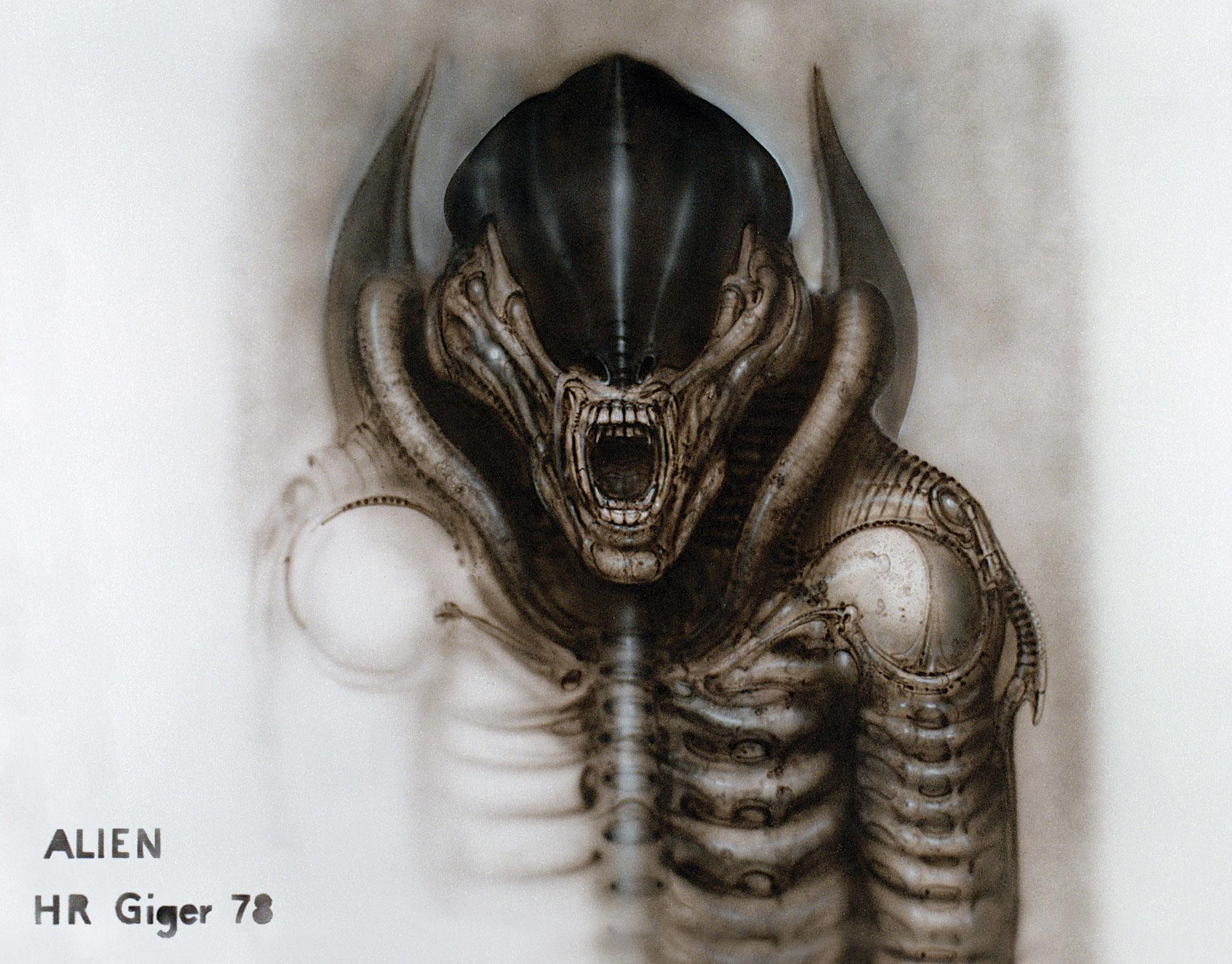 hr giger�s original paintings for alien will haunt your