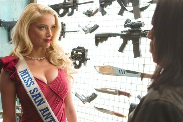 Amber Heard and Danny Trejo in Machete Kills
