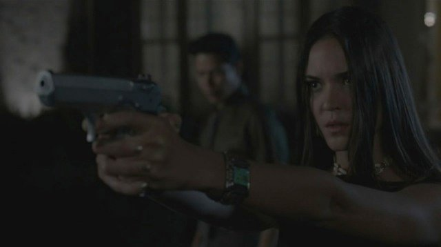 Anthony Ruivivar and Odette Annable in Banshee