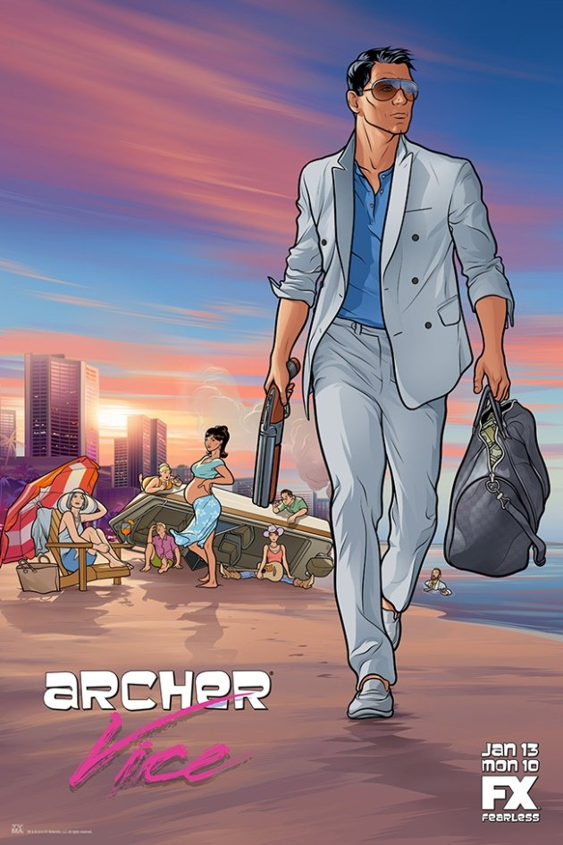 Archer S5 poster Archer Unveils Awesome, GTA Inspired Season 5 Poster