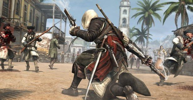 Assassins Creed 4 Black Flag City Gunplay 1741787 615x321 Assassins Creed IV: Black Flag Gallery