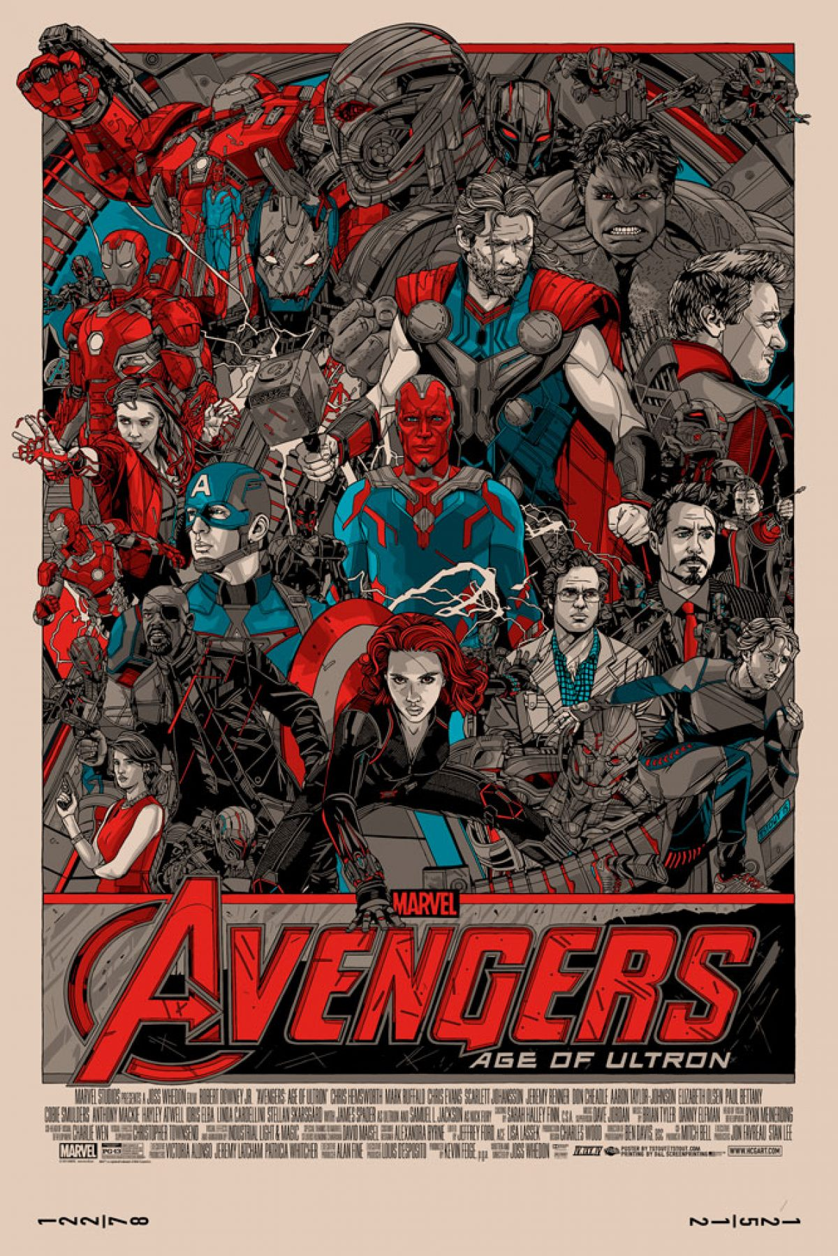 Tyler Stout's Amazing Posters For Avengers: Age Of Ultron Revealed