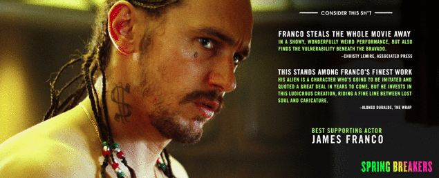 Does James Franco Want An Oscar For Spring Breakers?