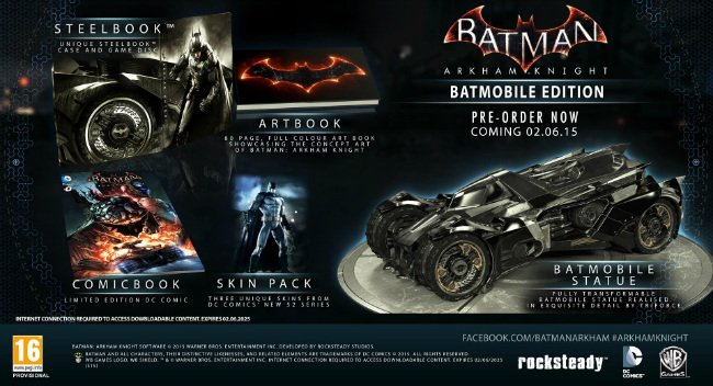 Batman: Arkham Knight Exclusive Batmobile Edition Canceled On Eve Of Release