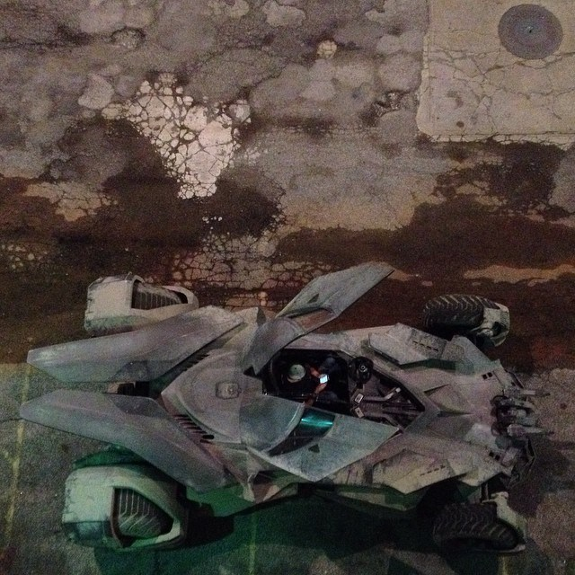 Leaked Set Photos Showcase Batman V Superman: Dawn Of Justice's Batmobile In Action