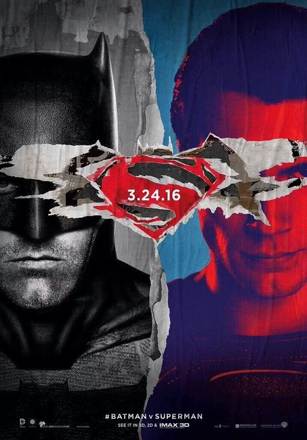 New Batman V Superman: Dawn Of Justice Poster Recycles Some Familiar Imagery