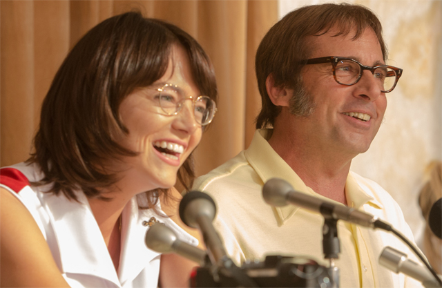 Emma Stone And Steve Carell Are All Smiles In First Battle Of The Sexes Image, Bill Pullman Joins Cast