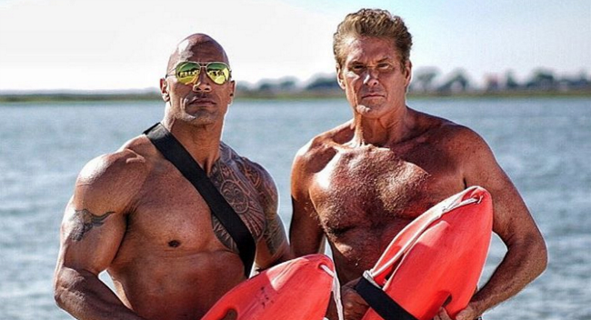 David Hasselhoff Hits The Beach In Latest Image From Baywatch Reboot