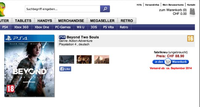 Is Jodie Holmes On Her Way To PlayStation 4 With Beyond: Two Souls?
