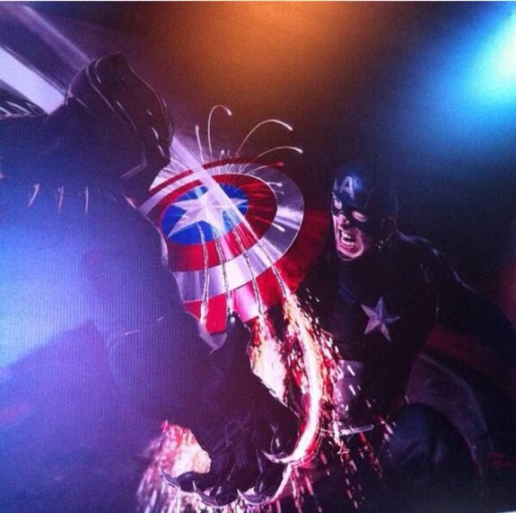 Captain America Squares Off With Black Panther In Civil War Promo Art