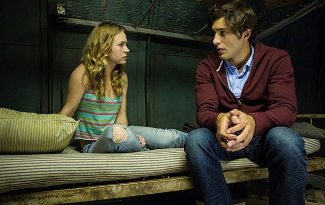 Britt Robertson and Alexander Koch in Under the Dome