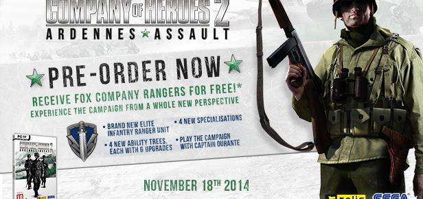 "Company Of Heroes 2: Ardennes Assault Gets ""Fox"" Company Pre-Order Bonus"