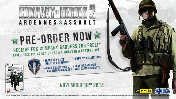 Company Of Heroes 2 Ardennes Assault Gets Fox Company Pre Order