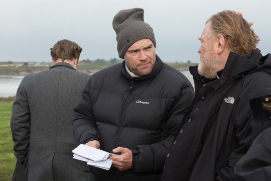 Calvary John Michael McDonagh on set