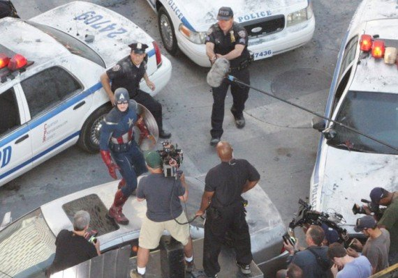 The Avengers Set Photos Feature Aliens And A New Captain America Costume