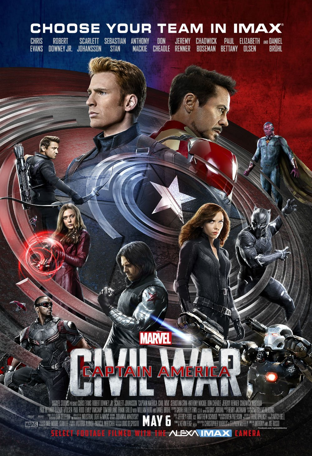 Captain America: Civil War IMAX Poster Finds Earth's Mightiest Heroes Divided