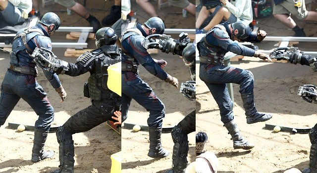 New Set Photos For Captain America: Civil War Feature The First Avenger And Frank Grillo's Crossbones