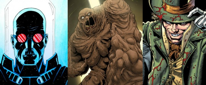 Clayface Mr Freeze Mad Hatter