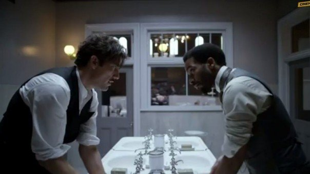 Clive Owen and André Holland in The Knick