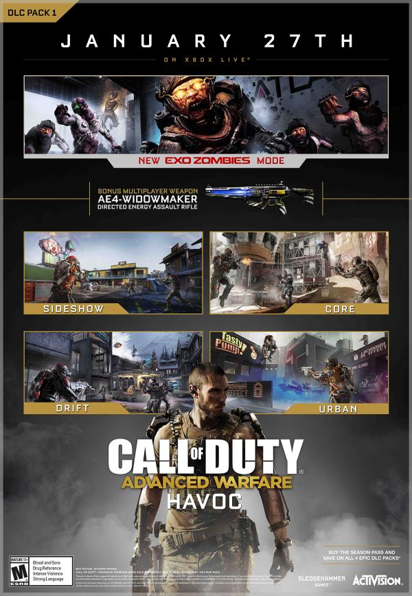 Call Of Duty: Advanced Warfare Havoc DLC Dated For January 27th, Exo Zombies Included