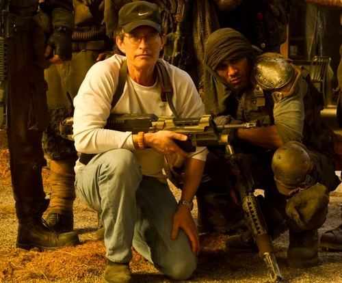 David Twohy on the set of Riddick