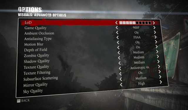 Dead Rising 3 Apocalypse Edition Options
