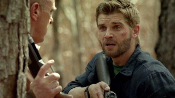 Dean Norris and Mike Vogel in Under the Dome