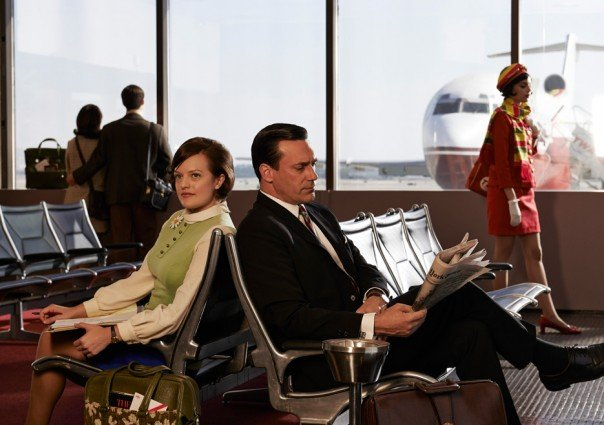 Elizabeth Moss and Jon Hamm in Mad Men
