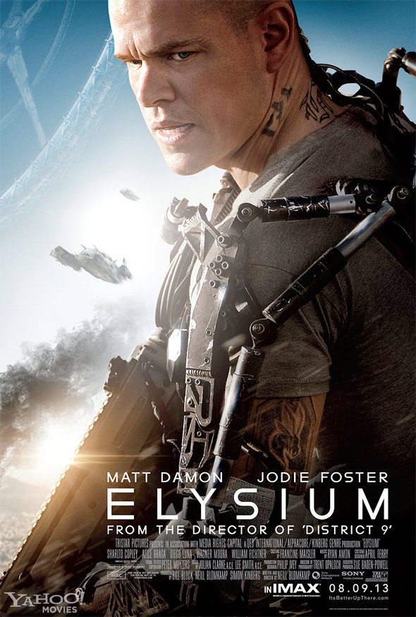 ElysiumDamonBigPosterNew590June New Extra Long Elysium Trailer Is Filled With Action