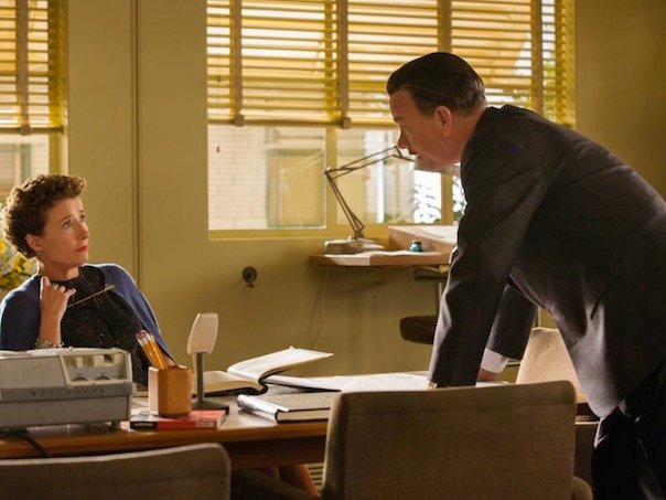 Emma Thompson and Tom Hanks in Saving Mr. Banks
