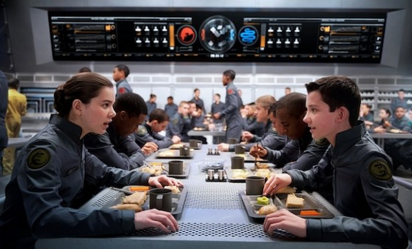 Enders Game Ender and Petra eat lunch