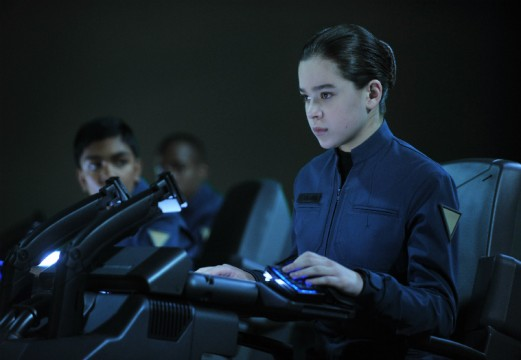 Enders Game Hailee at the controls