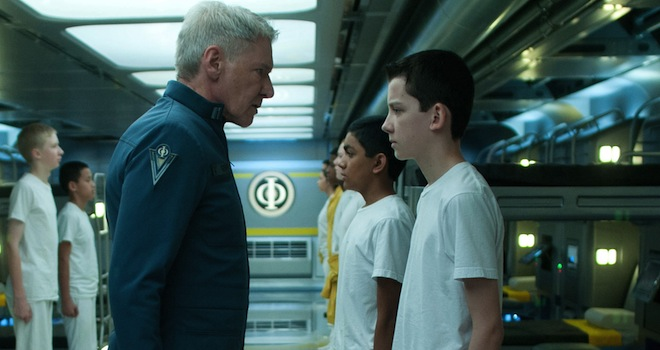 Enders Game Harrison faces off with Asa