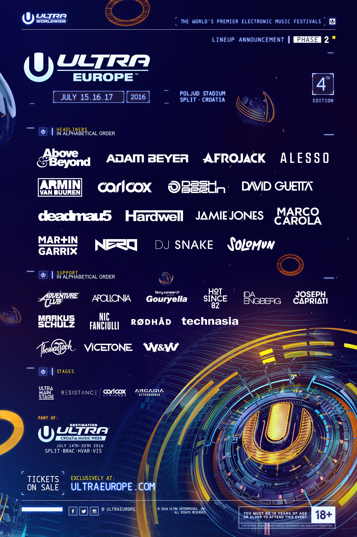 Ultra Europe Announces Phase 2 Lineup
