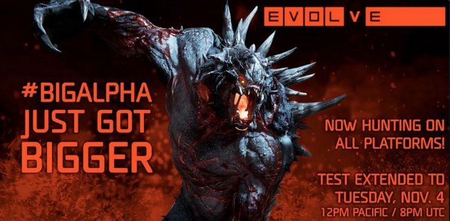 Evolve Alpha Now Available On PS4, Testing Extended To Tuesday On All Platforms