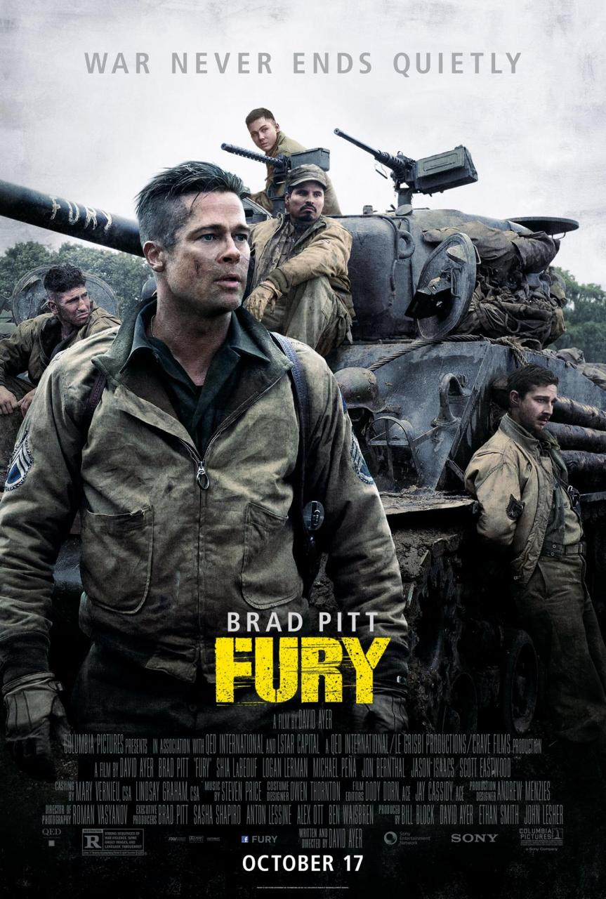 Brad Pitt's Wardaddy Prepares To Go Behind Enemy Lines In New Poster For Fury