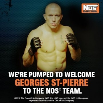 Georges St-Pierre Joins Coca-Cola With NOS Energy Drink Sponsorphip