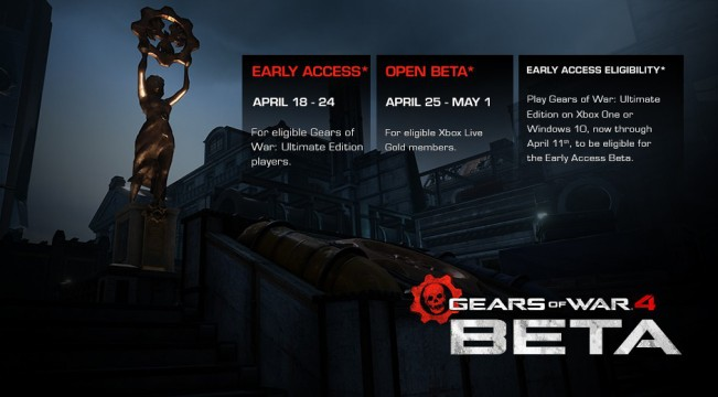 Gears Of War 4 Multiplayer Beta To Kick Off Next Month