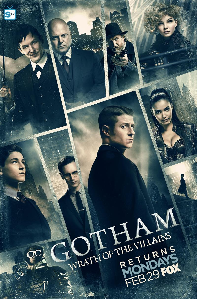 "Gotham Season 2B Poster Teases The ""Wrath Of The Villains"""