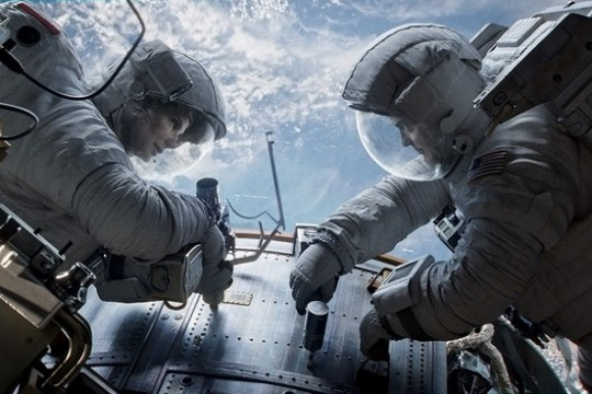 Gravity Bullock and Clooney working together 540x360 We Got This Covereds Top 10 Movies Of 2013