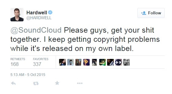 Hardwell Calls Out SoundCloud For Copyright Issues