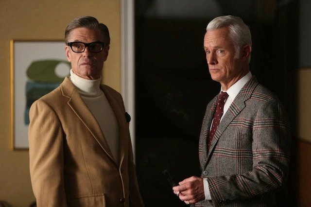 Harry Hamlin and John Slattery in Mad Men