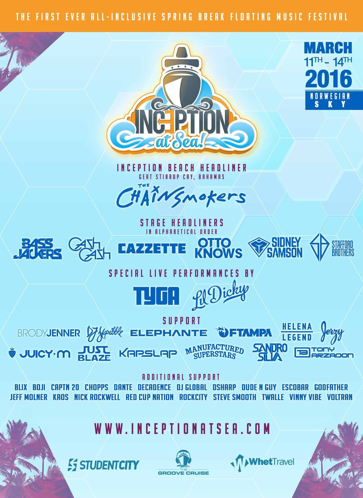 Inception At Sea Announces Full Lineup For Maiden Voyage