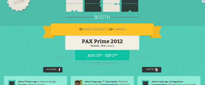 Indie Megabooth PAX Prime Roster Revealed