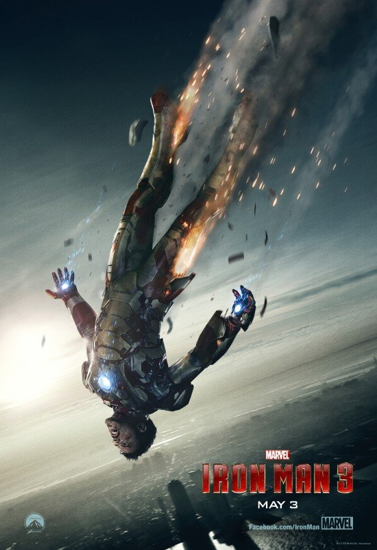 Tony Stark Plunges To Earth In New Iron Man 3 Poster