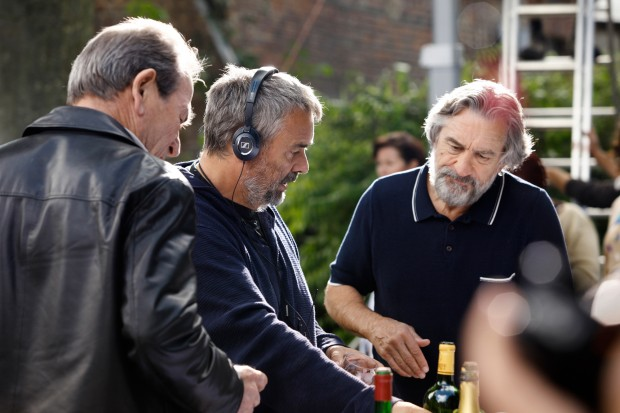 Check Out Luc Besson And Robert De Niro On The Malavita Set