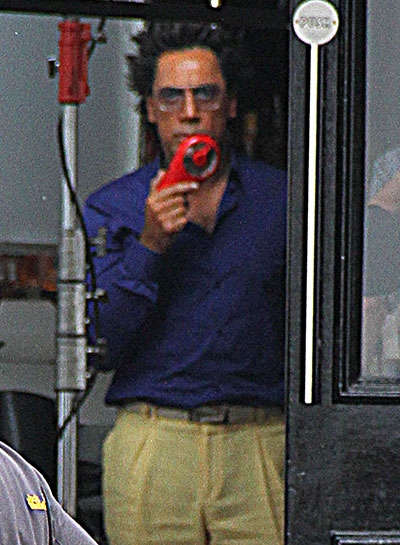 Javier Bardem On The Set Of Ridley Scott's The Counselor