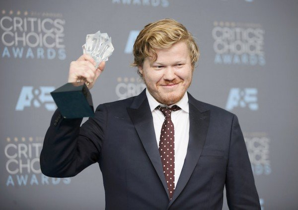 Jesse Plemons poses backstage with the award for Best Supporting Actor in a Made for Television Movie or Limited Series at the 21st Annual Critics' Choice Awards in Santa Monica