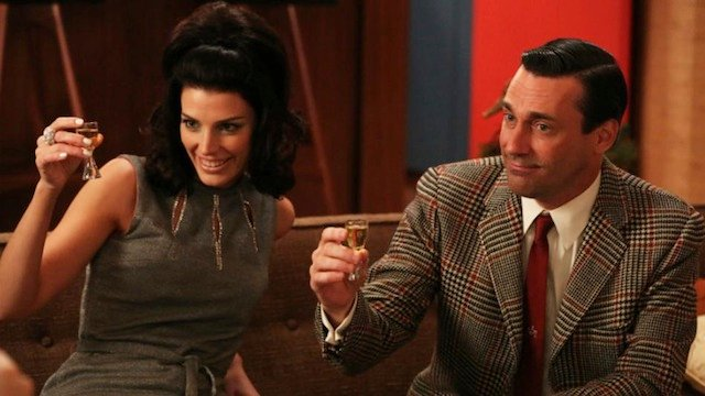 Jessica Pare and Jon Hamm in Mad Men Mad Men Gallery