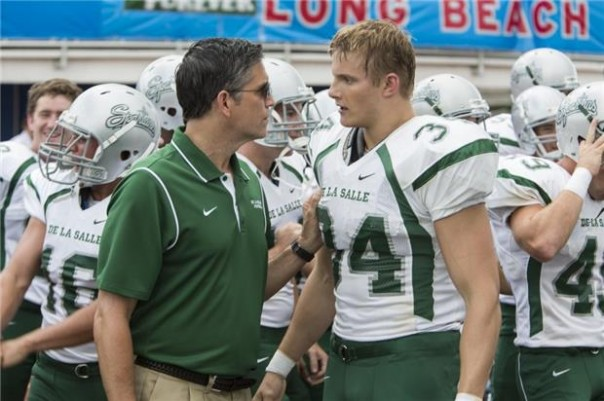 Jim Caviezel and Alexander Ludwig in When the Game Stands Tall